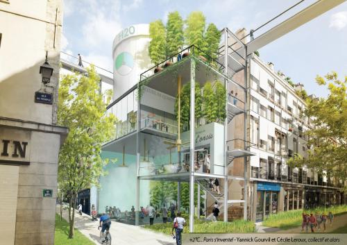 Crédits : Yannick Gourvil et Cécile Leroux (Exposition +2°C...Paris s'invente !)