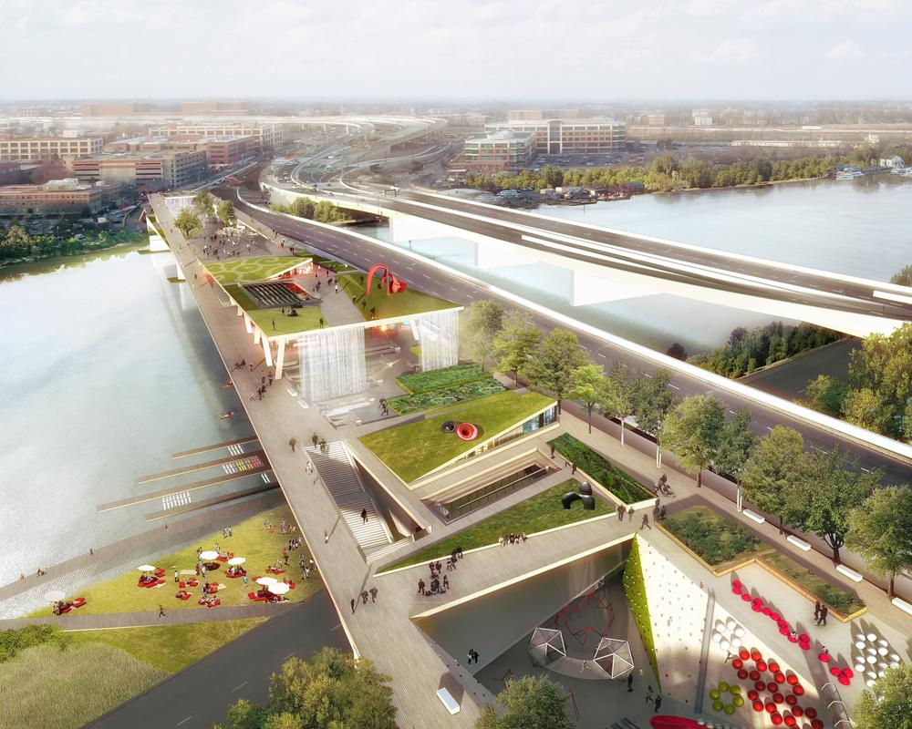 Les initiateurs du « Bridge park » le présente comme « une incitation à l'activité physique ».