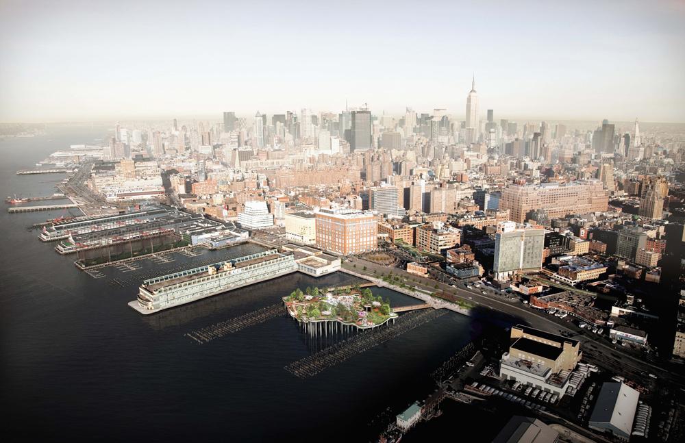 « Le temps d'honorer correctement les cours d'eau de New-York est venu », a déclaré Diane von Furstenberg, qui porte financièrement le projet